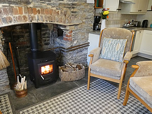 Cozy lounge in the Bolthole self catering cottage