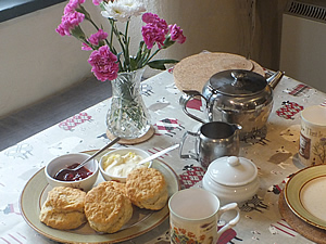 A welcoming cream tea awaits you on arrival