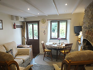 Comfortable lounge in the Bolthole holiday cottage