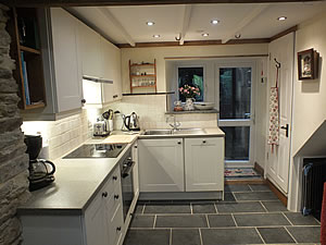 Modern well equipped kitchen at the Bolthole self catering holiday cottage