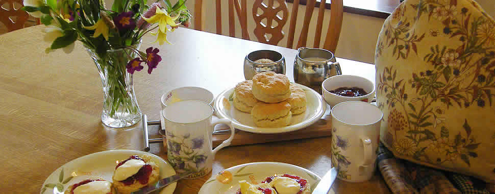 Cream tea at The Smithy holiday cottage