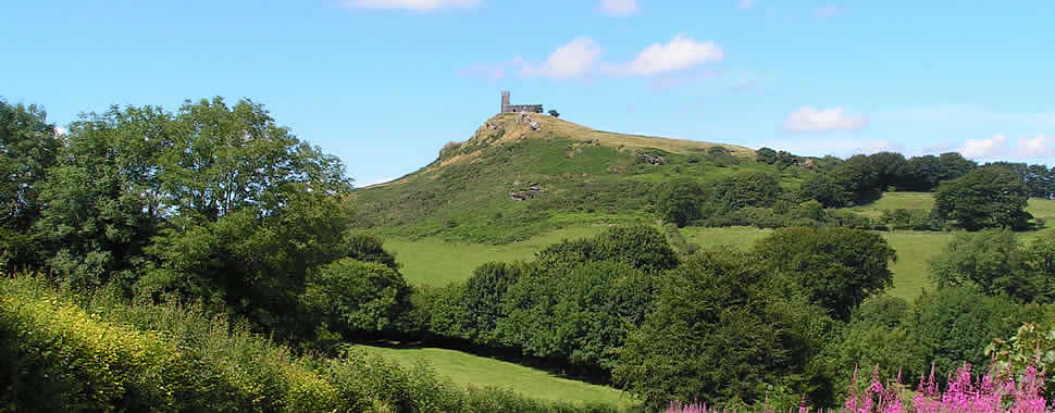 The church of St Michael de Rupe at Brentor is a striking landmark and commands panoramic views towards Dartmoor, Exmoor, Plymouth Sound and Bodmin Moor