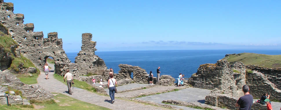 Tintagel on the north coast of Cornwall is a popular day out for all the family