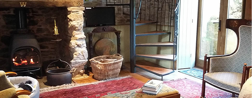 Lounge at Thorn Cottage, Bed and Breakfast accommodation in Brentor, Dartmoor